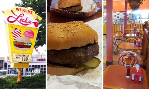 Licks ice cream and burger shops
